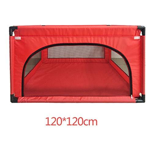 JIMI-I Baby Play Clôture Aire de Jeux pour Enfants intérieur lit bébé Bambin clôture de Protection 120 * 120cm (Couleur : Red)
