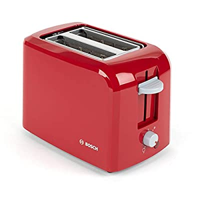 Bosch TAT3A014GB Village Two-Slice Toaster | Variable Browning Control | High-Lift Function | Removable Crumb Tray | Red, Plastic, 980 W