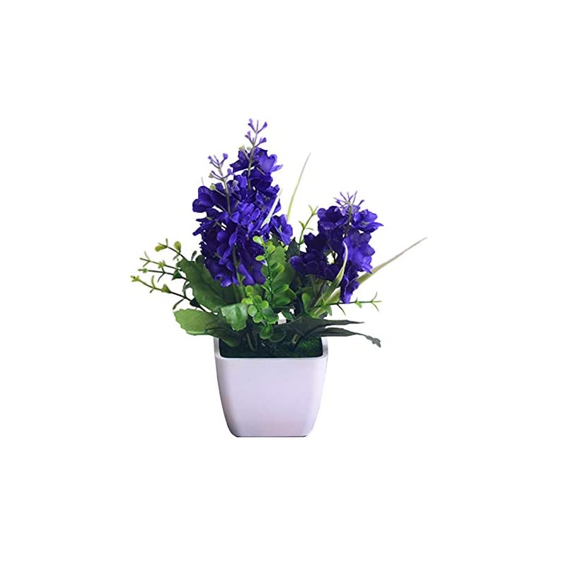 silk flower arrangements artificial flowers for decoration,mini artificial hyacinth bonsai garden office cafe wedding party desktop decor - purple