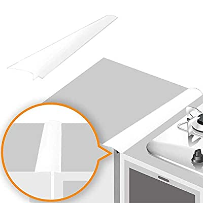 Linda's Silicone Stove Gap Covers (2 Pack), Heat Resistant Oven Gap Filler Seals Gaps Between Stovetop and Counter, Easy to Clean (21 Inches, White) from Linda's Essentials
