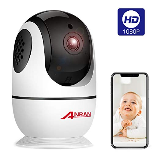 Wireless Security Camera 1080p, Home Smart WiFi Camera Indoor 360 Degree Pan/Tilt/for Pet,Elder,Baby Monitor with Panoramic View Night Vision,Two-Way Audio,Motion Detection,2.4G WiFi No TF Card ANRAN