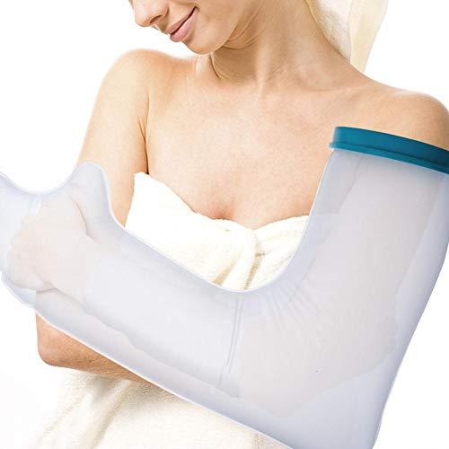 Alucy, cubierta de yeso a mano a prueba de agua, cubierta de yeso para el brazo de la ducha y el baño - Brazo para adultos, protector de agua 100% sellado reutilizable que mantiene