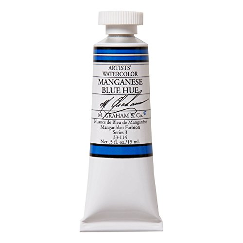 M. Graham 1/2-Ounce Tube Watercolor Paint, Manganese Blue Hue (33-114)