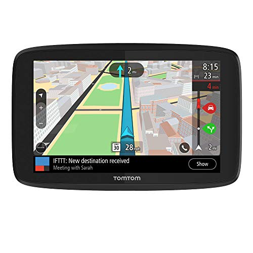 "TomTom GO Supreme 6"" GPS Navigation Device with World Maps, Traffic ans Speed Cam alerts thanks to TomTom Traffic, Updates via WiFi, Handsfree Calling, Click-and-Drive Mount"
