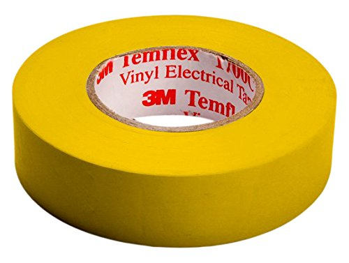 3M TGEL1510 Temflex 1500 Vinyl Elektro-Isolierband, 15 mm x 10 m, 0,15 mm, Gelb