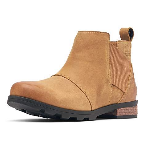 Sorel Women's Emelie Chelsea Boot - Light and Heavy Rain - Waterproof - Camel Brown - Size 5.5