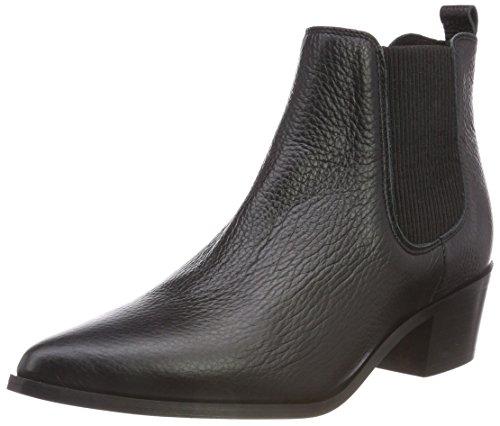 PIECES Damen PSDELTA Leather Boot Stiefeletten, Schwarz Black, 38 EU