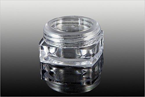 New Nail Art 1 boîte vide avec couvercle à visser - 3 ml - Transparent - Boîte de rangement - Accessoires