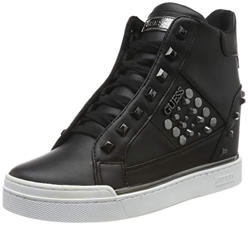 Guess Feelix/Stivaletto (Bootie)/Lea, Sneaker a Collo Alto Donna, Nero (Black Blk Bl), 36 EU