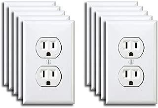 10 Pack of Fake Electrical Outlet Sticker Prank April Fools Funny Joke Decals