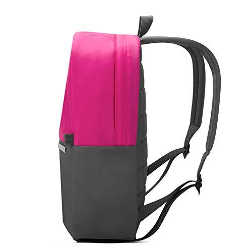 H HILABEE Wasserdichter Rucksack Tasche für 13 Zoll Notebook Laptop Grau mit Gelben - Rosa + Gelb