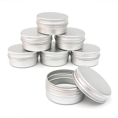 Shumo 12 X 50 Ml Pots à Maquillage En Aluminium 50 Ml Capacité Vide Petit Cosmétique/Bougie/Pots à épices Boites de Conserves Bocaux
