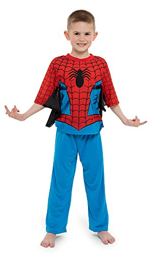 Marvel Boys' Toddler Spiderman 2-Piece Uniform Set with Webbing, Webby Red, 3T