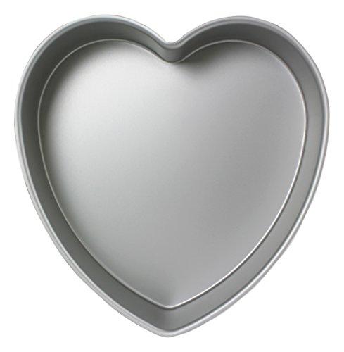 PME Herzförmige Backform aus eloxiertem Aluminium, 152 x 76 mm tief, 15.3 cm