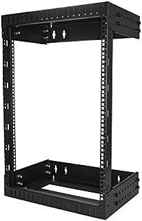 StarTech.com 15U Open Frame Wall Mount Network Rack - 2-Post Adjustable Depth (12