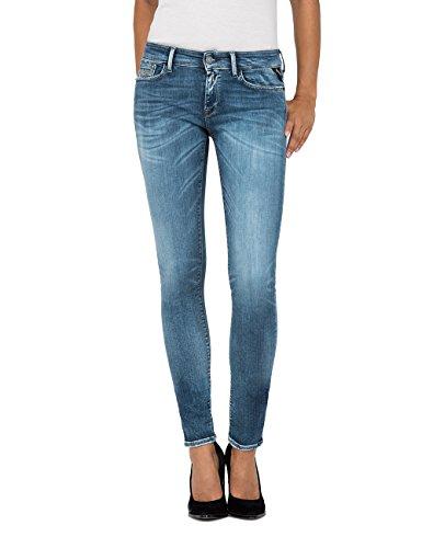 Replay Damen Luz Skinny Jeans, Blau 009, 28W / 30L