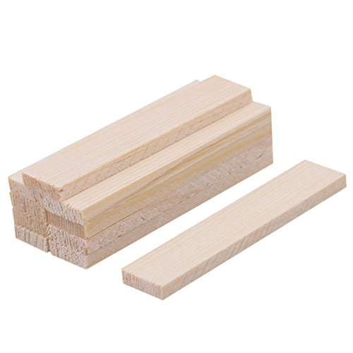 10 strisce quadrate in legno di bambù balsa 50 mm di lunghezza per modellismo