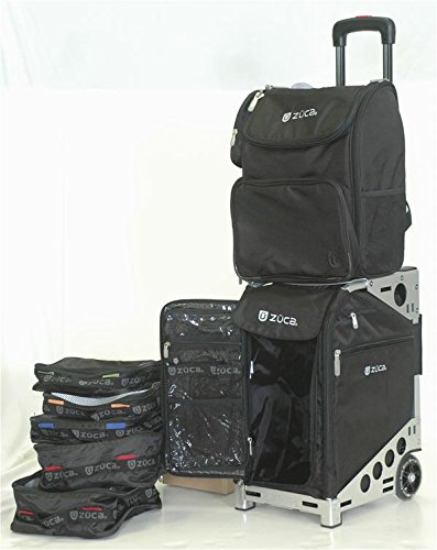 ZUCA Duo: Pro Travel with Silver Frame and Business Backpack.