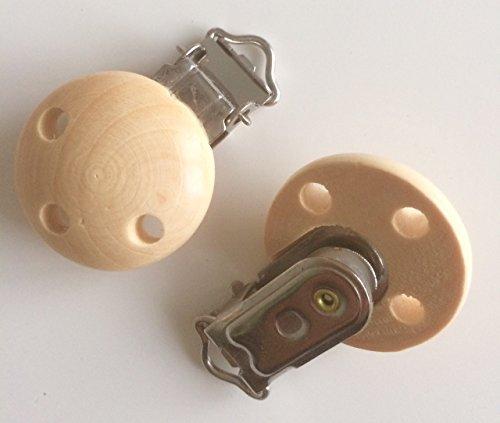 Fopspeen clip voor fopspeen om zelf te maken, in 8 verschillende kleuren, clip voor fopspeen ketting (natuurlijk)