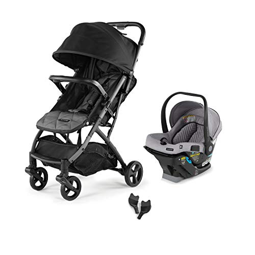 Summer 3Dpac CS Compact Fold Stroller with The Affirm 335 Rear-Facing Infant Car Seat (Stone Gray) and Affirm 335 Infant Car Seat Adapters