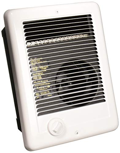 Cadet Com-Pak Electric Wall Heater with Thermostat (Model: CSC151TW), 120V, 1500W, White