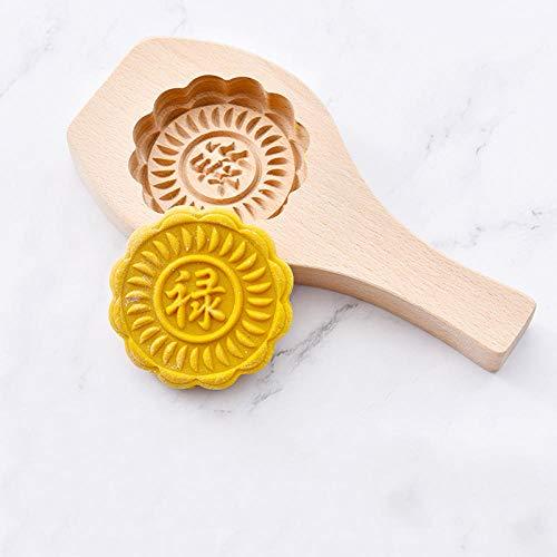Bun Schimmel Handgemaakte Huishoudelijke Schimmel Houten Nieuwjaar Bun Mung Bean Patroon Gestoomd Gebak Handgemaakte Pasta Bakvorm-Middelgrote, Chinese