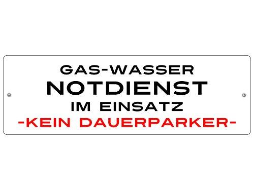 KUNSTSTOFFSCHILD mit Saugnapf Autoschild Gas Wasser NOTDIENST Innenraum Auto