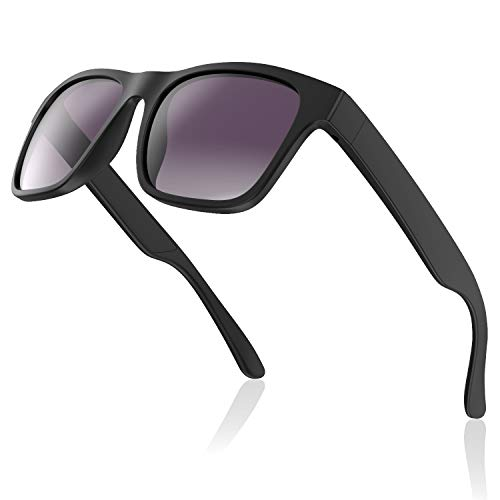 Avoalre Gafas de Sol para Hombre Gafas Deportiva Ciclismo Vintage Inastillables & Anti-Aceite Gafas para MTB Running Coche Moto Montaña – Negro