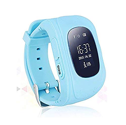 Waterproof Kids Smart Watch by Winnes with GPS Tracker SIM Card Phone Watch Anti-Lost Alarm Function Gift for Boys and Girls (Blue)