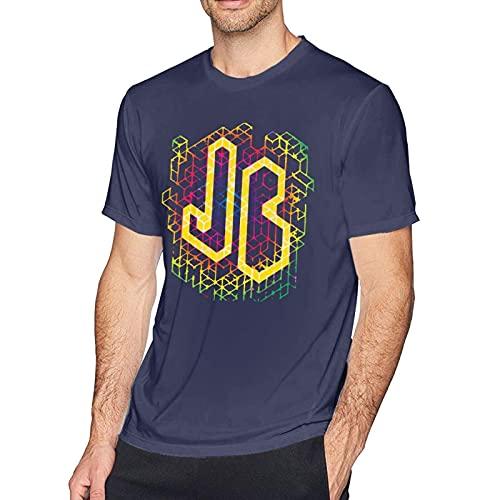 IUBBKI Jo-NAS Brot-Hers Fashion Cotton Camiseta de Manga Corta Estampada para Hombre Azul Marino