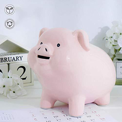 LIUKLAI Caja de Seguridad Rosa Piggy Piggy Piggy Big Coins Toy Hucha Monedas Monedas Kumming Caja de Ahorro de Dinero M5B003-3