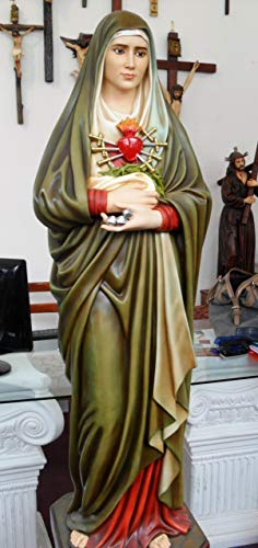 Woodington's Sorrowful Blessed Virgin Mother Mary 48 Inch Large Statue