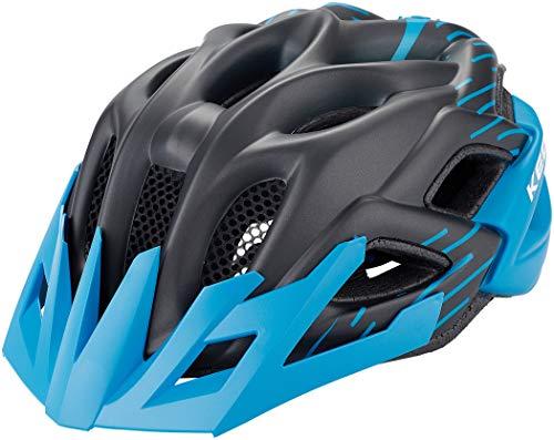 KED Fahrradhelm Status Jr, Blue Black Matt, 52-59 cm
