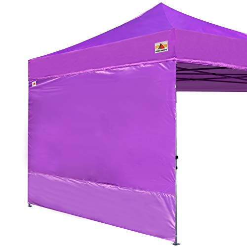ABCCANOPY Instant Canopy SunWall (15+Colors) for 10x10 Feet, 10x20 Feet Straight Leg pop up Canopy, 1 Pack Sidewall Only, Purple
