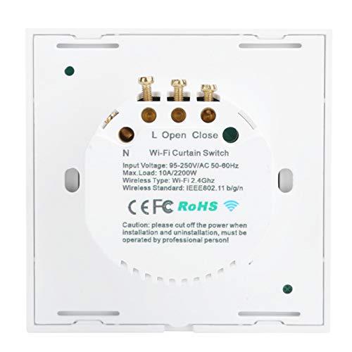 Interruptor táctil, Interruptor táctil de Pared Duradero con Control de App, CA 95-250V para casa de Garaje(White Cover (2272983), Transl)