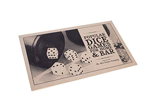 Alex Cramer Golden Gate Dice Cup Set - 5 White Dice, Drawstring Pouch & Book of Dice Games (Liar's Dice) Included - Leather Dice Cup - Noiseless Liner for Quiet Shaking - Deep Mahogany-Colored Buffed Finish
