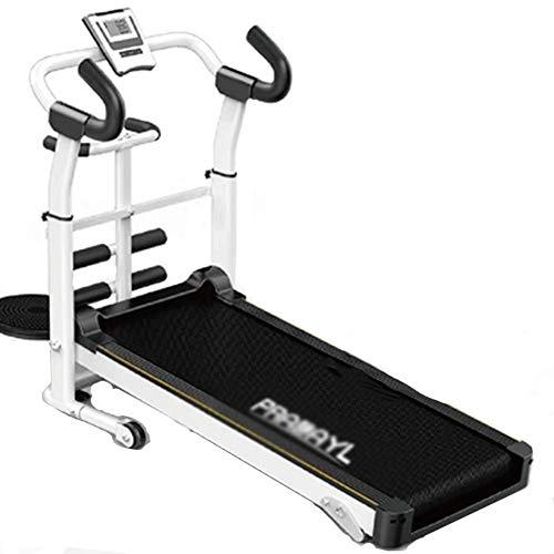 CWYPC Laufband, Laufband Klappbar Treadmill Walking Laufband Für Zuhause Mechanisch Tapis Roulant Fitnessgerät, 3 Steigungsstufen, Bis 120 Kg, LCD Bildschirm, Fitnessblack