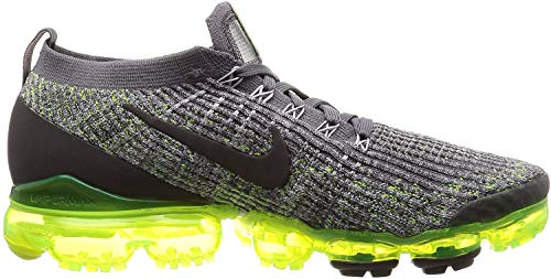 Nike Air Vapormax Flyknit 3 Mens Sneakers AJ6900-009, Gunsmoke/Thunder Grey-Volt-Wolf Grey