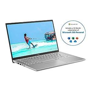 ASUS VivoBook with Microsoft Office 365 Personal - X412DA Full HD 14 Inch Thin Laptop (AMD Ryzen R3 Processor, 4  GB RAM, 128  GB SSD, Windows 10) 1