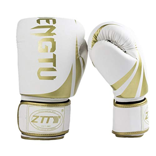 UKKO Boxhandschuhe Boxhandschuhe Sparring Pro 8 oz - 12 oz Boxsack Kampf MMA Muay Thai Grappling Mitts Martial Arts Training Kickboxhandschuh-Kampf,Gold,10 oz
