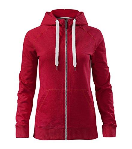 Adler Damen Kapuzenpullover Sweatshirt Voyage Pullover aus 100% Baumwolle - warm - Top Qualität - XS bis XXL (451-Rot-XL)
