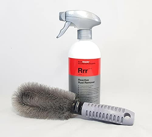 Koch Chemie Reactive Rust Remover RRRR 500 ml Limpiador de llantas + Clean 2 cepillos