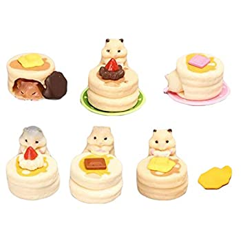 BHLB 6 pcs Cake And Hamster Figurines Hamster Animal Figure Collection Playset Cake Toppers for Fairy Garden Dollhouse Miniatures Decoration