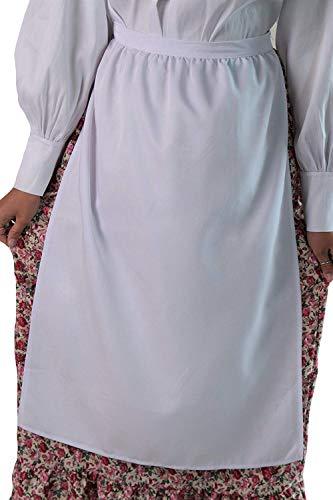 Womens Simple White 30 Long Peasant Apron