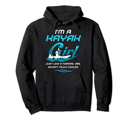 I´m A Kayak Girl Divertente Kanu Kayak Kayaker Felpa con Cappuccio