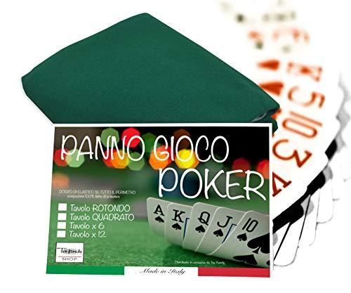 Überzug für Poker-Tisch, grün, rund, Durchmesser 130 cm