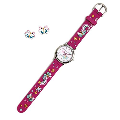 Conjunto Agatha Ruiz de la Prada AGR299 colección Fantasía niña mariposas reloj pendientes plata...