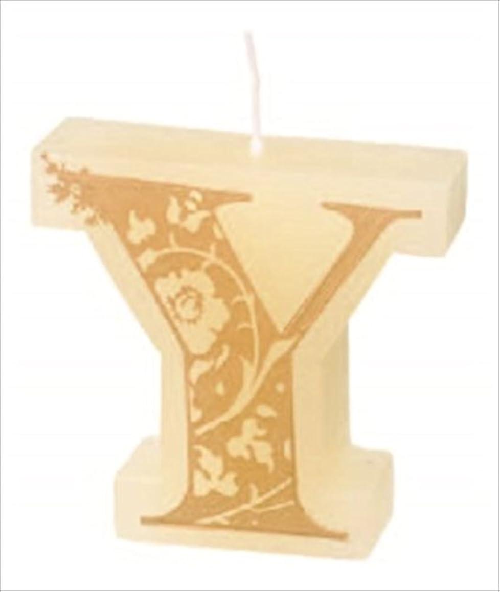 冷える吐き出すお世話になったカメヤマキャンドル(kameyama candle) イニシャルキャンドルミニ 「 Y 」