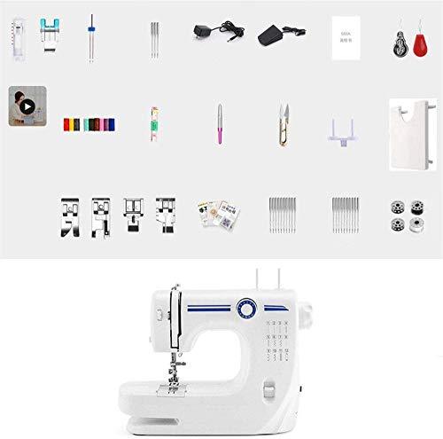 Mini naaimachine met verlengtafel en naaisets en kits, elektrische naaimachine, voor dikke stoffen, met voetpedaal, voor doe-het-zelf reizen