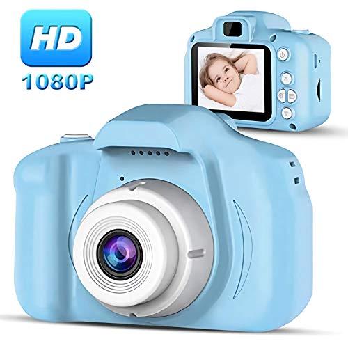 Kinderkamera, 1080P HD Video Digitalkamera für Kinder, 2,0 Zoll-LCD Touchscreen mit 1GB TF-Karte, Unterstützt Kleine Spiele,Geburtstagsgeschenk für Junge Mädchen im Alter von 3-12